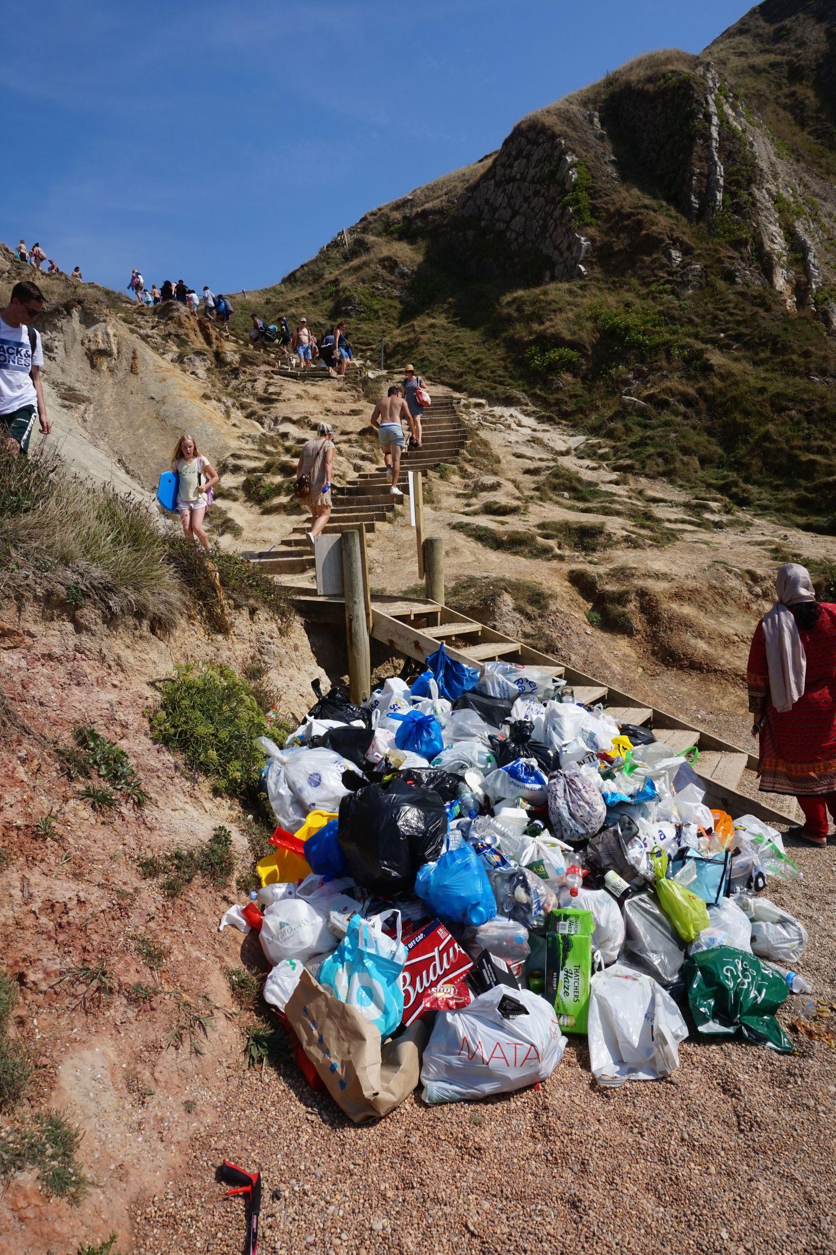 Durdle Door Beach Litter